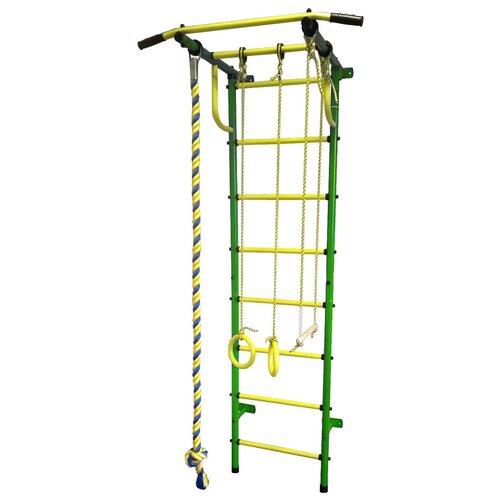 Купить Шведская стенка Пионер С2Н, зеленый/желтый, Игровые и спортивные комплексы и горки