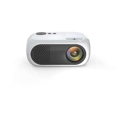 Мультимедийный мини-проектор 1080P Full HD LED LCD (белый)