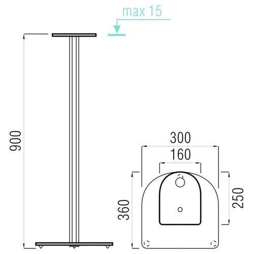 Стойки под акустику Металлдизайн (Metaldesign) MD 203-900 дымчатое стекло-чёрный