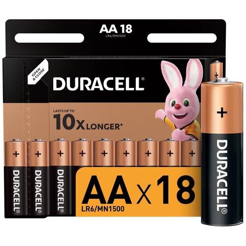 Фото - Батарейки AA - Duracell LR6 BL18 (18 штук) батарейки lr6 aa щелочные 10 шт