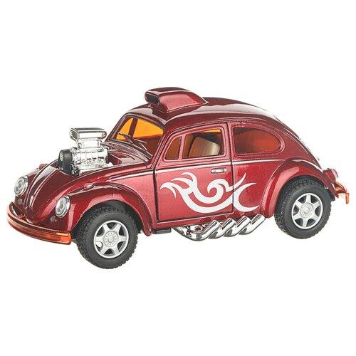 Купить Гоночная машина Serinity Toys Volkswagen Beetle (5405DKT) 1:38, 12.5 см, красный, Машинки и техника