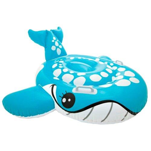 Фото - Надувная игрушка-наездник Intex Голубой кит 57527 голубой игрушка наездник надувная intex черепаха с ручками intex 191х170 от 3 лет 57555
