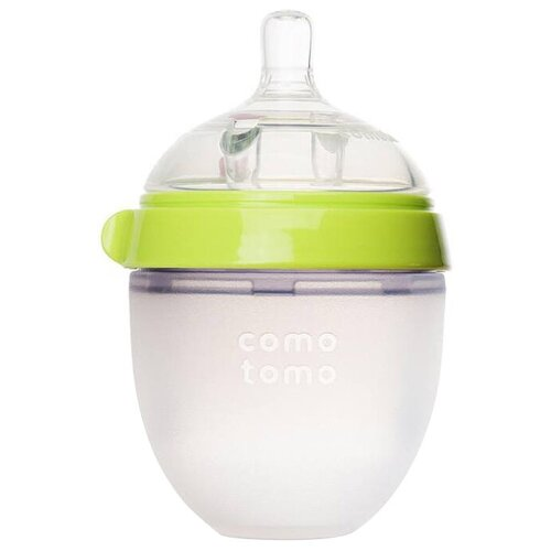 Купить Comotomo Бутылочка антиколиковая 150 мл, с рождения, зеленый, Бутылочки и ниблеры