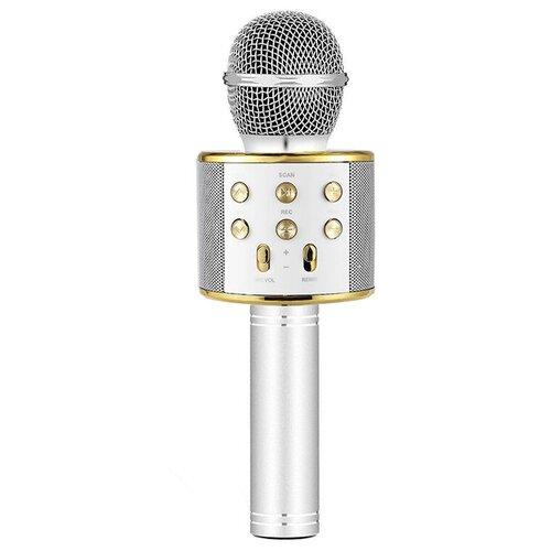 Беспроводной караоке-микрофон WS-858 (светлое золото)