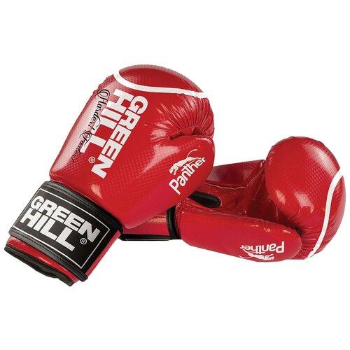 Боксерские перчатки Green hill Panther (BGP-2098) красный 10 oz боксерские перчатки green hill gym bgg 2018 синий 10 oz