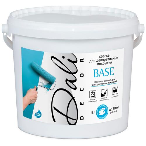 Фото - Краска акриловая DALI-DECOR Base влагостойкая моющаяся матовая белый 5 л краска акриловая dali для кухни и ванной влагостойкая моющаяся матовая белый 5 л