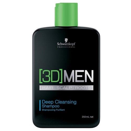 Schwarzkopf Professional [3D] Men Deep Cleansing Shampoo - Шварцкопф Шампунь для глубокого очищения, 250 мл -