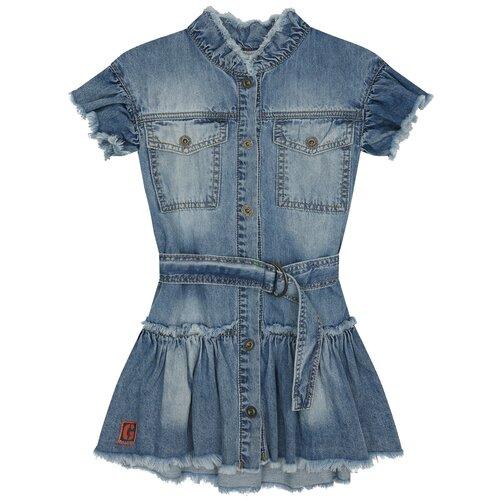 Фото - Платье Gulliver размер 116, голубой блузка mek размер 116 голубой