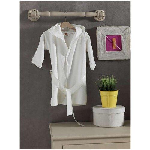 Купить Халат махровый серии Vanilla Dreams , 100% хлопок (размер 4) (белый), Kidboo, Домашняя одежда