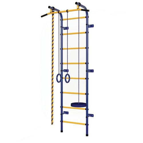 Шведская стенка Пионер С1Н, синий/желтый