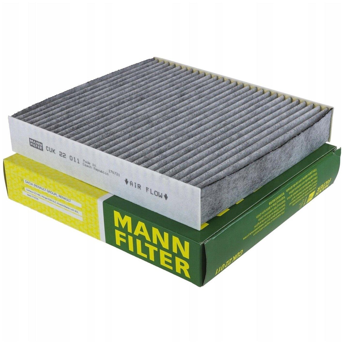 CUK 22 011 Фильтр салона угольный MANN — купить по выгодной цене на Яндекс.Маркете