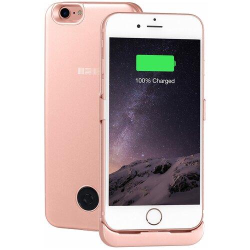Чехол-аккумулятор INTERSTEP Metal battery case для iPhone 7/8 rose gold
