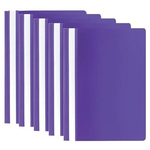 Купить STAFF Папка-скоросшиватель А4, полипропилен 100 и 120 мкм, 5 шт. фиолетовый, Файлы и папки