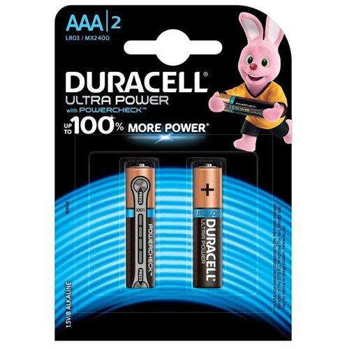 Фото - Батарейка Duracell Ultra Power AAA/LR03, 2 шт. батарея duracell ultra power lr03 4bl aaa 4шт