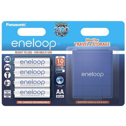 Фото - Аккумулятор Ni-Mh 1900 мА·ч Panasonic eneloop AA + кейс, 4 шт. аккумулятор aa fujitsu hr 3utceu 4b 1900 mah 4 штуки