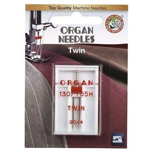 Игла/иглы Organ Twin 90/4 серебристый