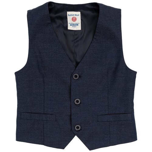 Жилет Button Blue размер 98, синий