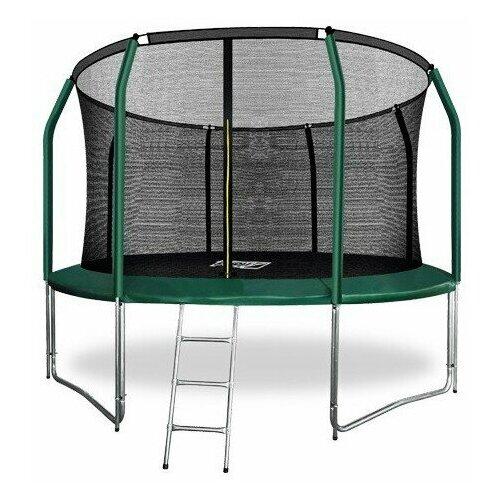 Фото - Батут ARLAND премиум 12FT с внутренней страховочной сеткой и лестницей (Dark green) (ТЕМНО-ЗЕЛЕНЫЙ) батут 12ft с внутренней страховочной сеткой и лестницей light green arland