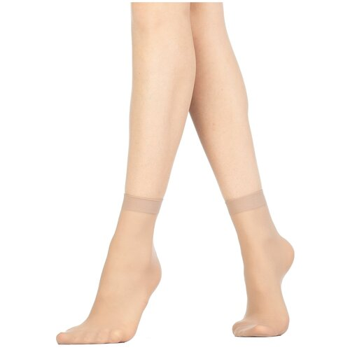 Капроновые носки Golden Lady Mio 20 Den, 2 пары, размер 0 (one size), melon
