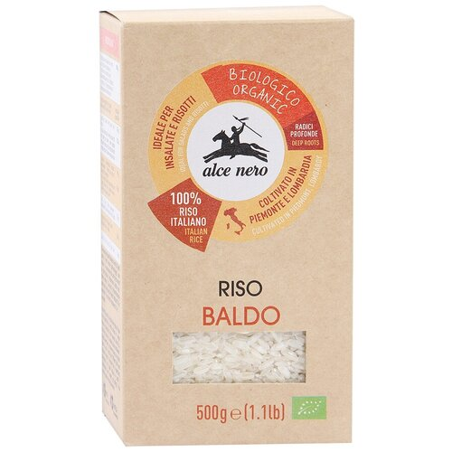Фото - Рис Alce Nero Baldo шлифованный среднезерный, 500 г макаронные изделия alce nero фузиллони био 500 г