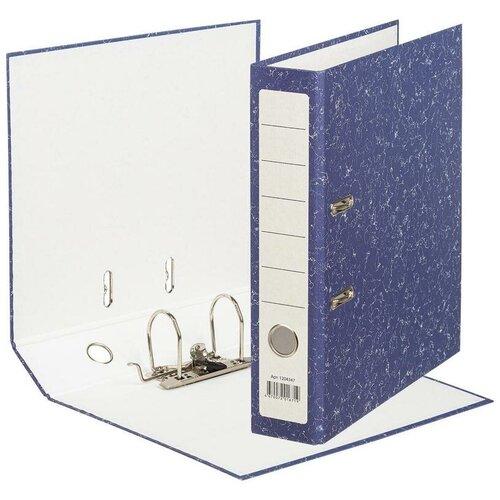 Фото - Attache Папка-регистратор Economy A4, бумвинил, 75 мм синий мрамор attache папка регистратор economy под мрамор 50 мм черный синий