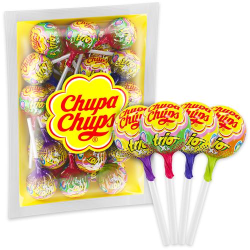 карамель chupa chups xxl flavors playlist ассорти 60 шт Карамель Chupa Chups XXL Trio с жевательной резинкой внутри ассорти, 522 г 1 шт.
