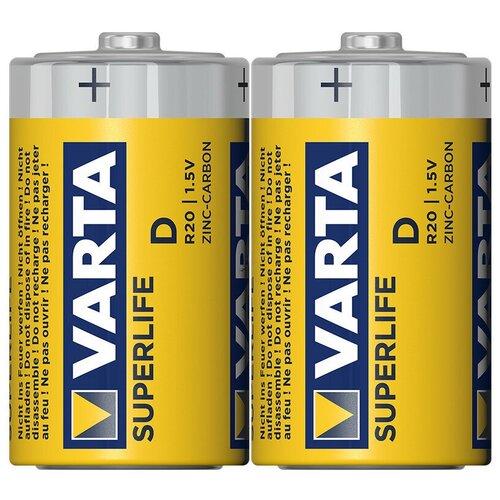Фото - Батарейка VARTA SUPERLIFE D/R20, 2 шт. аксессуар swat 2xrca 2xrca 1 8m six 218