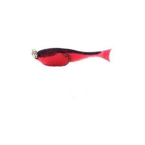 Поролоновая рыбка Контакт (двойник),8 см красн-черн (1упак*5шт)