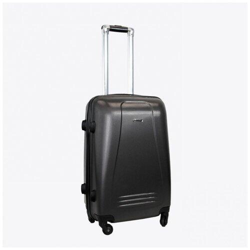 Фото - Чемодан Rion+, 416/3 тёмно-серый 22 чемодан rion 418 3 62 л серый
