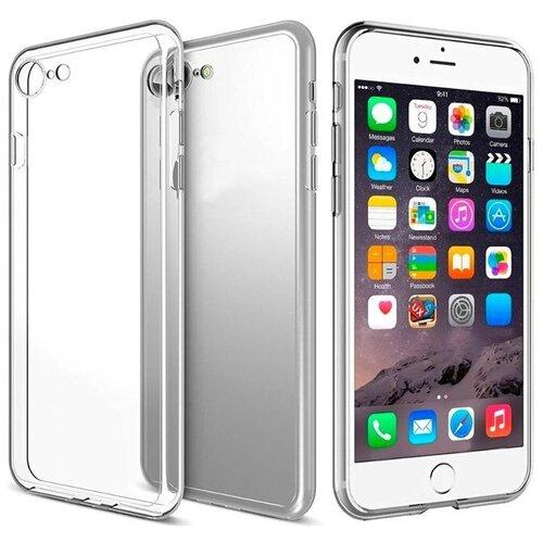Прозрачный силиконовый чехол (накладка) для телефона Apple iPhone 7, iPhone 8 и iPhone SE 2020г / Тонкий чехол для смартфона Эппл Айфон 7, Айфон 8 и Эпл Айфон СЕ 2020г с протекцией от прилипания Premium (Прозрачный)