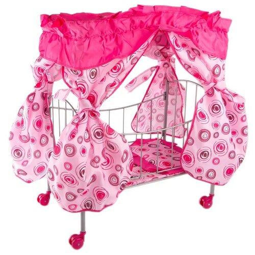Buggy Boom Кроватка с балдахином Loona розовый с разноцветными кольцами