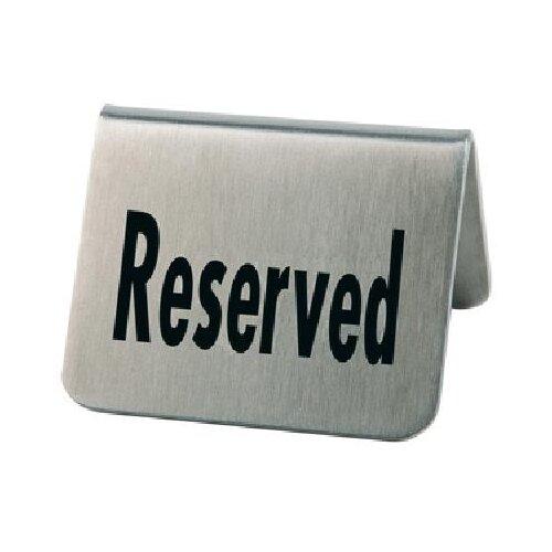 Табличка «Резерв» [2шт]; сталь нерж., Aps, арт. 00013