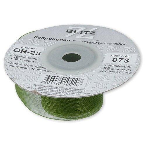 Фото - Лента капроновая BLITZ 25 мм, 22,8+-0,5 м, №073, темно-оливковая (OR-25) ленты blitz or 25 blitz лента капроновая 25 мм 089 голубой