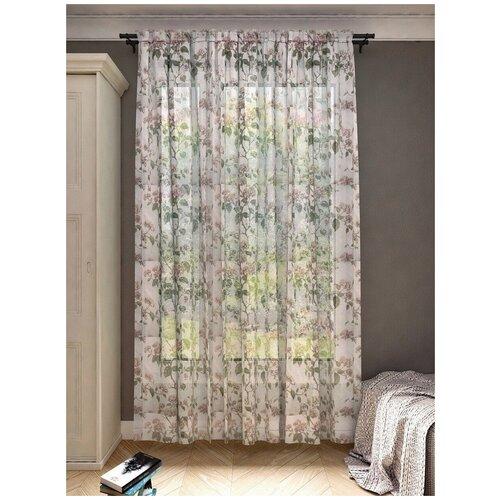 тюль тд текстиль кристин голуб 300 270 Тюль Костромской текстиль Цветы (300*260)