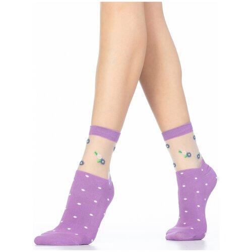 Носки Giulia WS2 CRYSTAL 015 размер 39-40, lavender (Разноцветный)