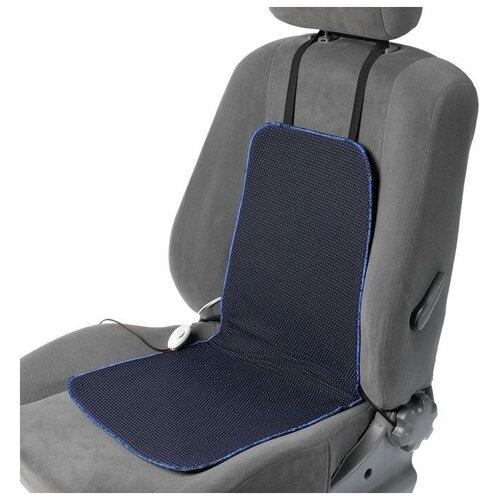 Подогрев сидений Cartage, со спинкой, 2 режима нагрева, 12 В, 30/50 Вт,40х80 см