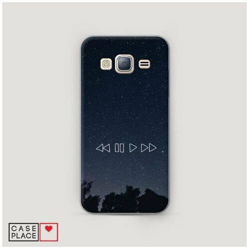 Чехол Пластиковый Samsung Galaxy J3 2016 Космическая музыка