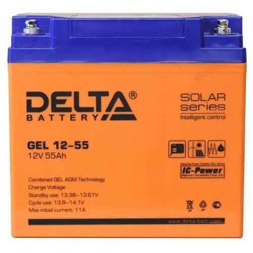 Аккумулятор Delta GEL 12-55 аккумулятор delta battery gel 12 55