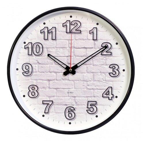 Настенные часы Бюрократ WallC-R71P черный (wallc-r71p29/black)