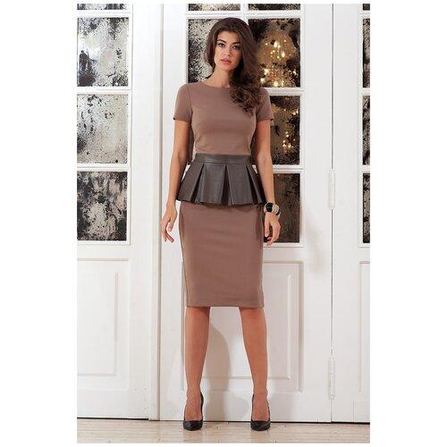 брюки ruxara ruxara mp002xw0f72l Платье RUXARA (7022, коричневый, размер: 44)