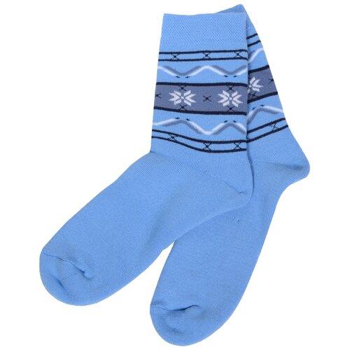 Детские махровые носки Брестские голубые, размер 21-22