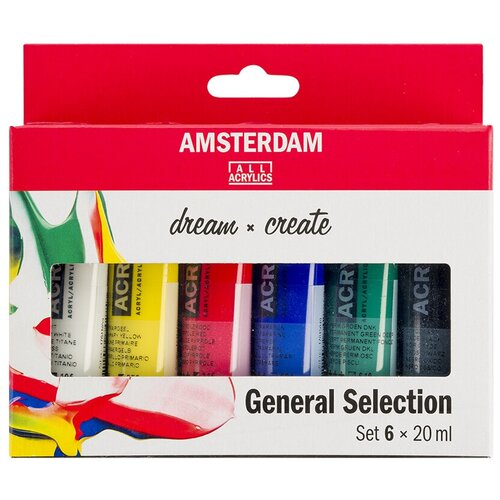 Купить Royal Talens Набор акриловых красок Amsterdam Стандарт 6цв*20мл, Наборы для рисования