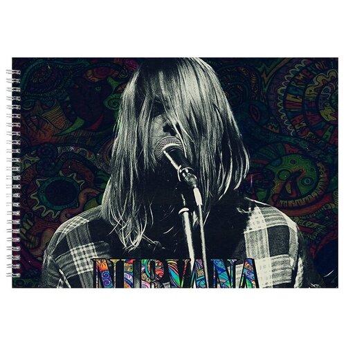 Альбом для рисования, скетчбук Nirvana Phychodelic art