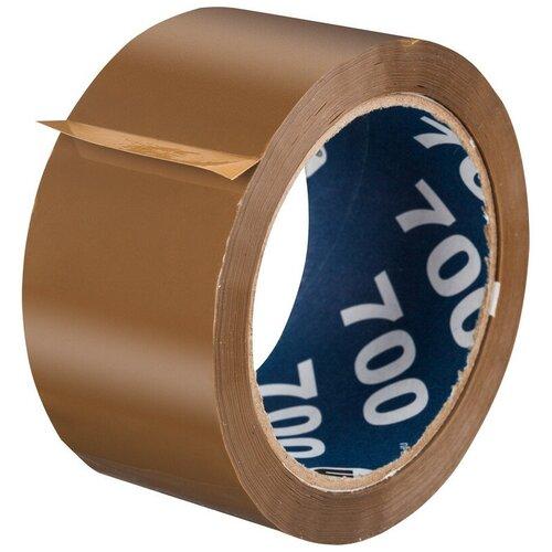 Фото - Клейкая лента упаковочная UNIBOB 700 50мм х 66м 47мкм коричневая 6 шт/уп клейкая лента коричневая unibob 48мм 66м 45мкм 6 шт в упаковке