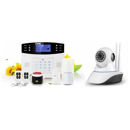 Комплект беспроводной охранной GSM видео сигнализации Страж Экспресс Видео + G90B для дома квартиры дачи коттеджа
