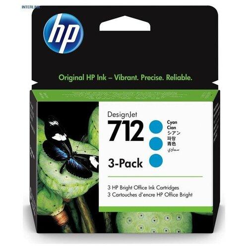 Фото - HP 3ED77A Картридж оригинальный 712 синий тройная упаковка (3-Pack) (голубой) Cyan 87 мл для DesignJet Studio, T230, T250, T630, T650 картридж струйный hp 712 3ed77a голубой x3упак 29мл для hp dj т230 630