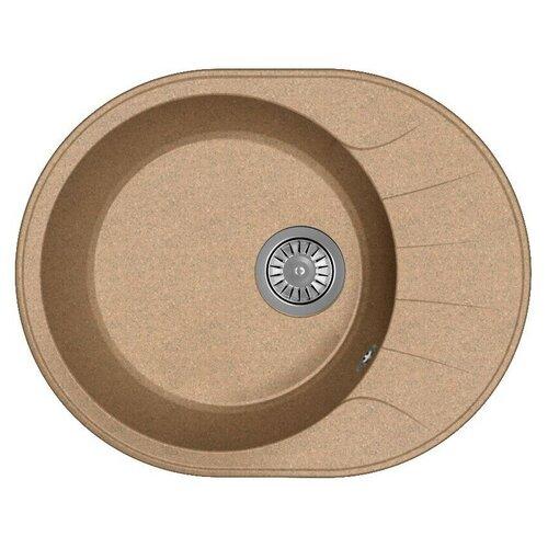 Мойка для кухни Dr. Gans Smart, Виола-580, терракот, камень, врезная, овальная (46444)