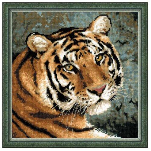 Фото - Риолис Набор для вышивания крестом Амурский тигр 40 x 40 (1282) риолис набор для вышивания крестом русская охота 60 x 40 1639