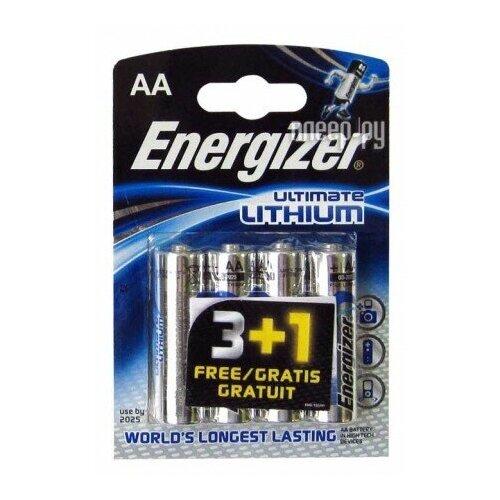 Батарейка AA - Energizer Ultimate Lithium L91 FR6 (4 штуки) 639155 / 20526 батарейка energizer ultimate lithium aa 2 шт