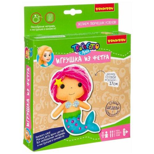 Купить BONDIBON Набор для шитья игрушки из фетра Русалочка (ВВ3808), Изготовление кукол и игрушек